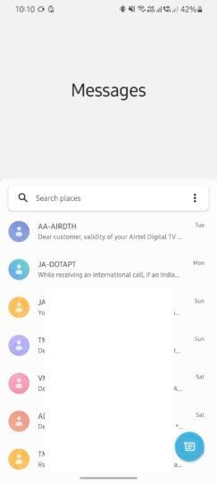 Samsung Galaxy S21 Google Messages Update One UI Design