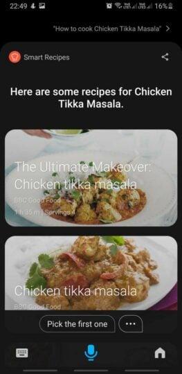 Bixby 3.0 Indian English Recipes