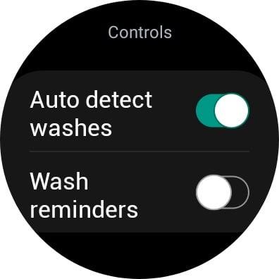 Samsung Hand Wash Smartwatch App Features
