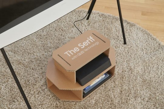 Samsung The Serif QLED TV Eco-Friendly Packaging Set Top Box Stand