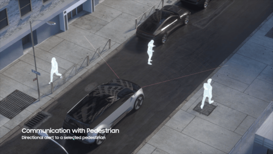 Samsung Digital Cockpit 2021 Pedestrian Safety