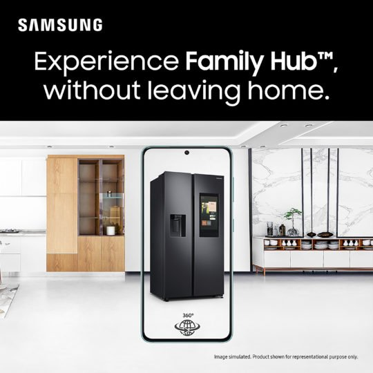 Samsung SpaceMax FamilyHub Refrigerator AR Demo Experience