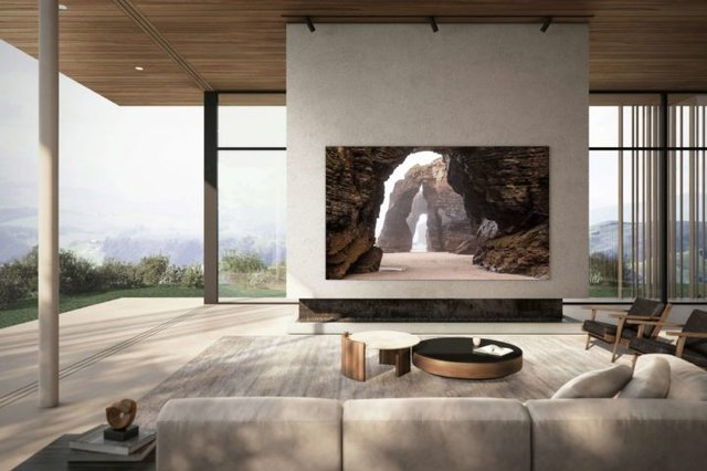 Samsung MicroLED TV 110-Inch Living Room Front