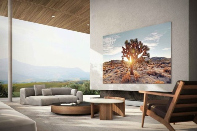 Samsung MicroLED TV 110-Inch Living Room Side
