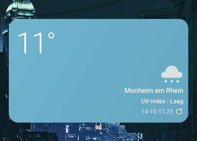 Samsung One UI 4.0 Dynamic Weather Widget Rainy