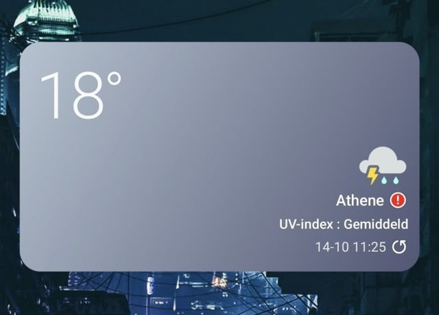 Samsung One UI 4.0 Dynamic Weather Widget Thunder