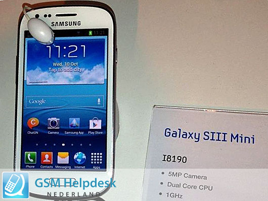 Galaxy S III Mini Specs and Images (Update with live picture ...