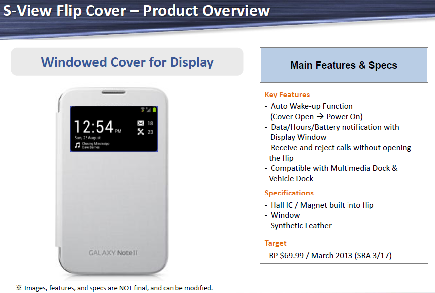 S View Flip Cover