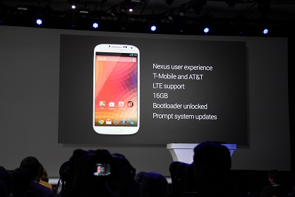 Google announces Samsung Galaxy S4: Google Edition running stock Android, coming in June for $649