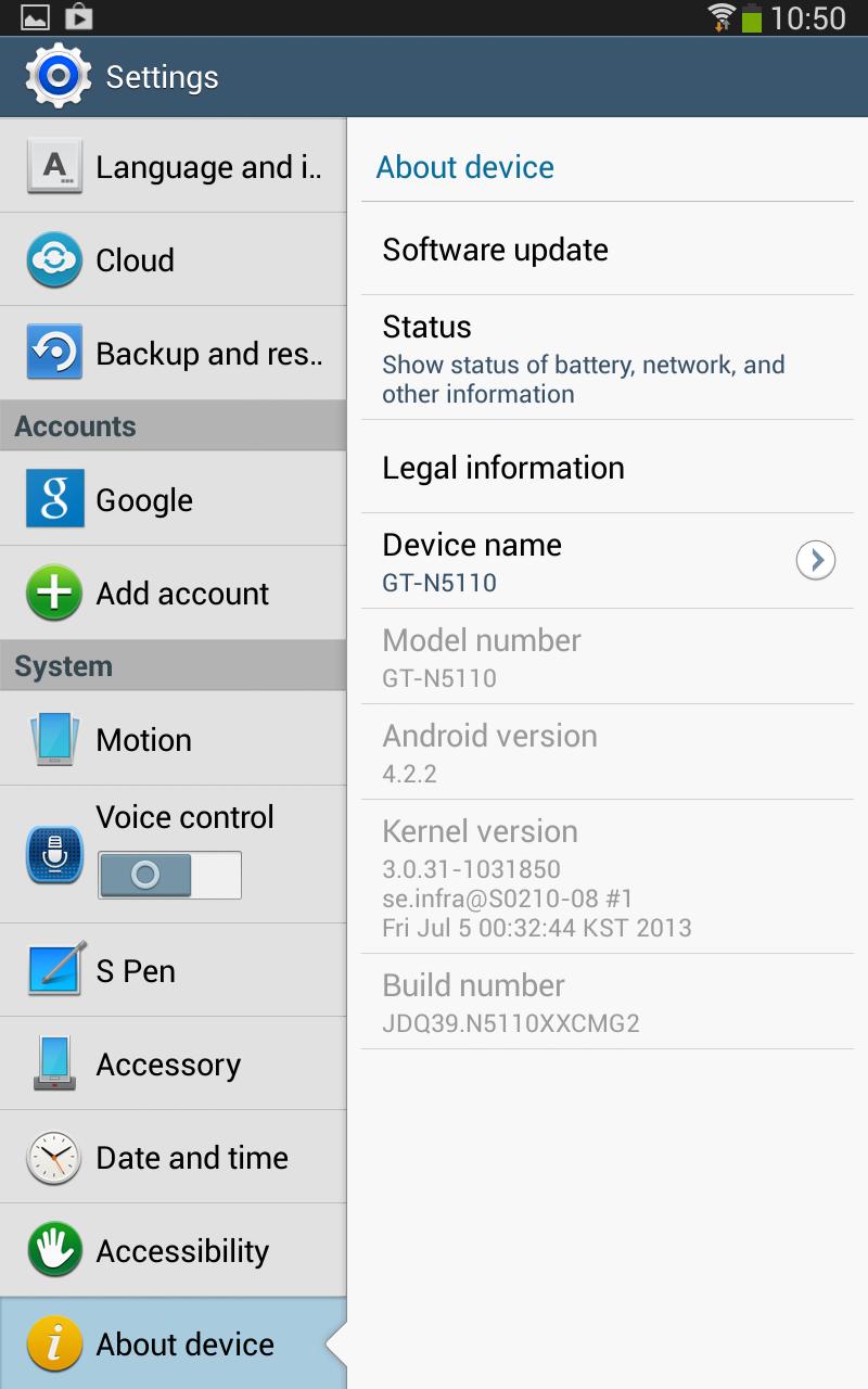 [ROM][LEAK][GT-N5110] N5110XXCMG2 : Installer Android Jelly Bean 4.2.2 sur Samsung Galaxy Note 8.0 WiFi [15/07/2013] Screenshot_2013-07-14-10-50-07