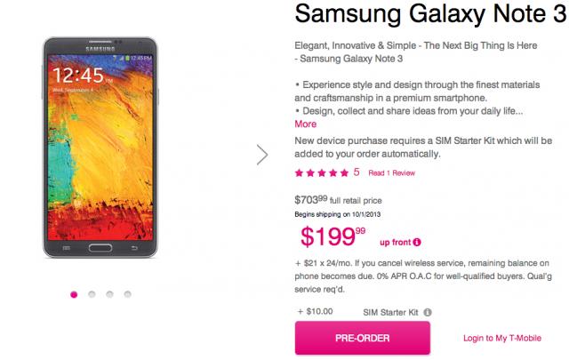 T-Mobile Galaxy Note 3 pre-orders now live - SamMobile - SamMobile