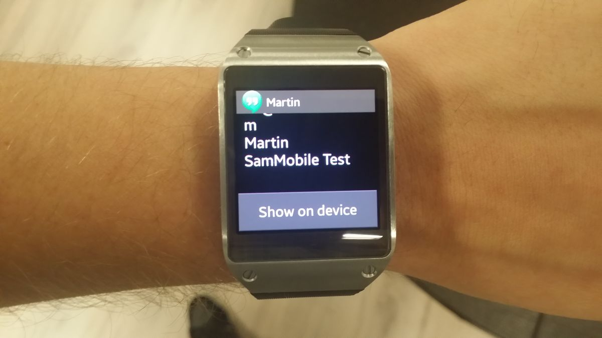 Galaxy Gear just became more awesome: now shows full notifications