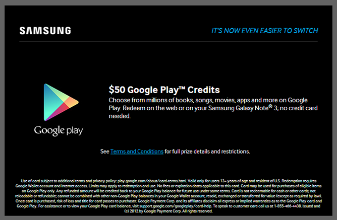 how to get free play store credit