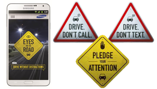"""Samsung launches """"Eyes on the road"""" application"""