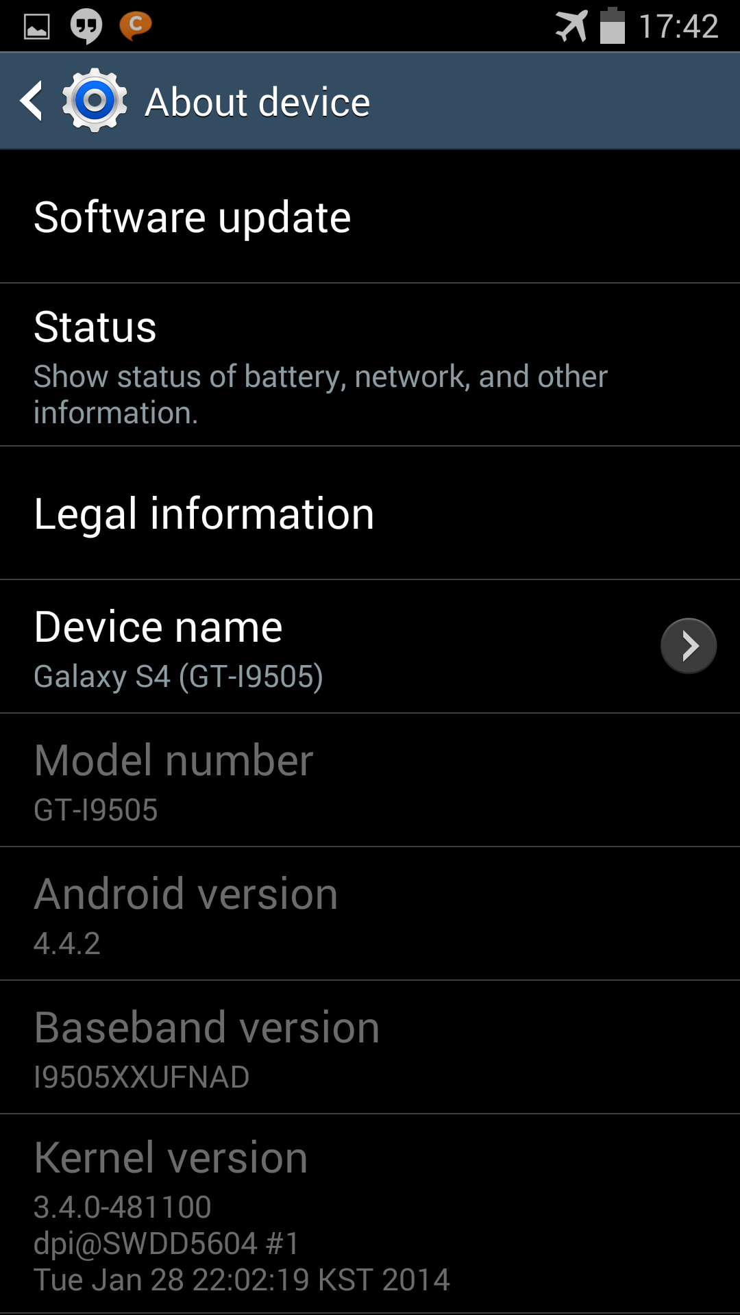 S4 Android 4.4.2 - 3