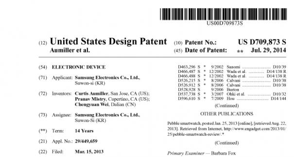Samsung Smartwactch Patent USPTO