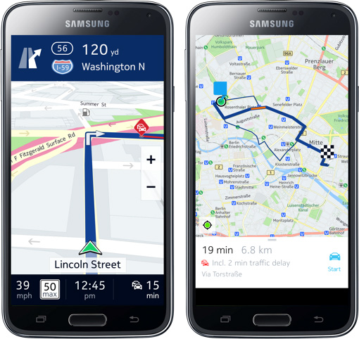 HERE Maps For Samsung Galaxy Smartphones