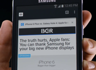Samsung Mocks Apple iPhone 6 Plus Feature