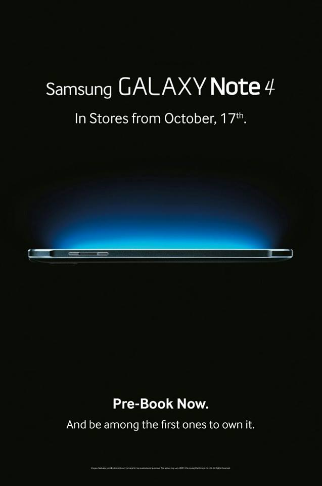 Samsung Galaxy Note 4 India Availability