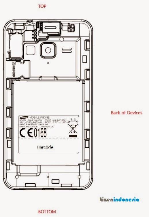 Samsung Z1 Dual SIM SM-Z130H FCC