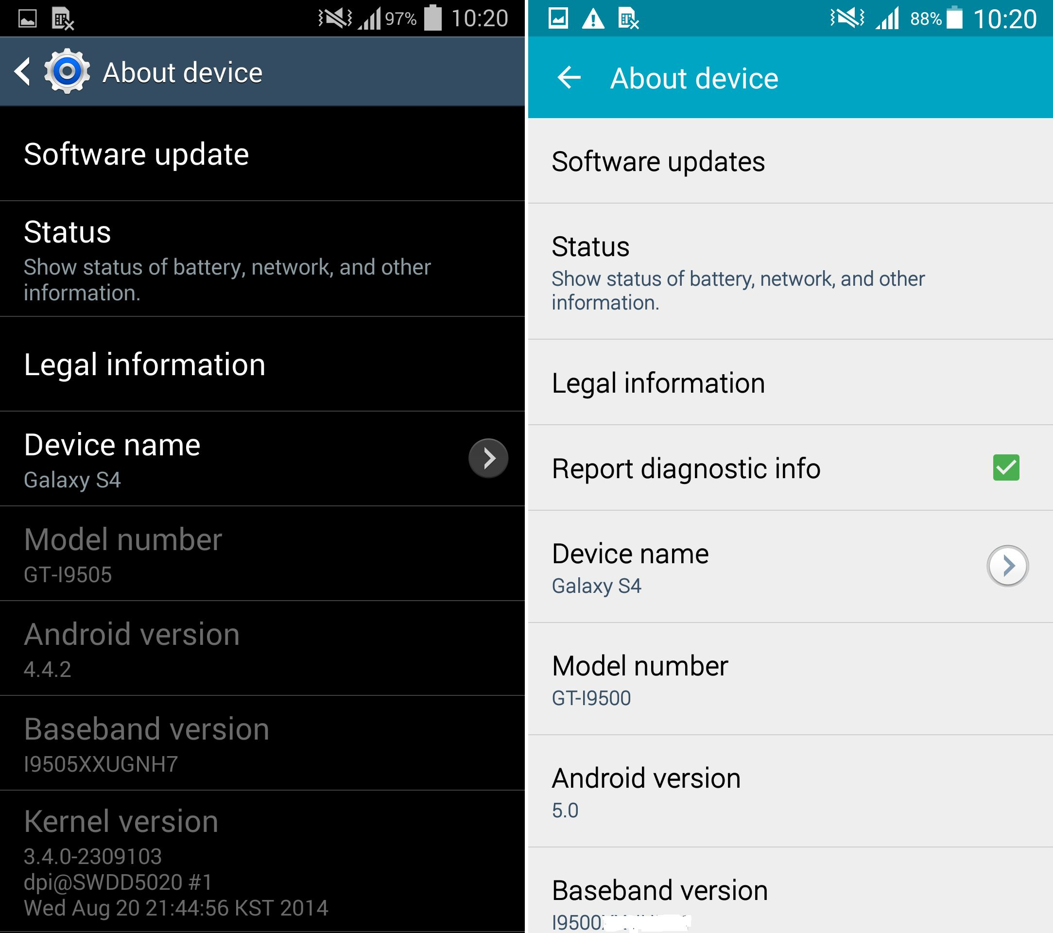 Exclusive galaxy s4 android 50 lollipop vs android 442 an error occurred ccuart Gallery