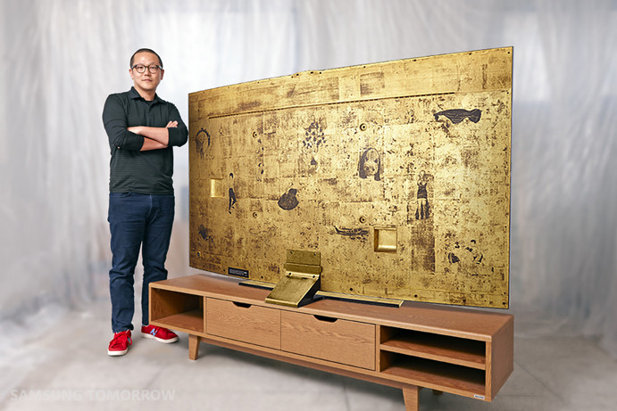 78-inch curved UHD TV with gold covered back will be ...