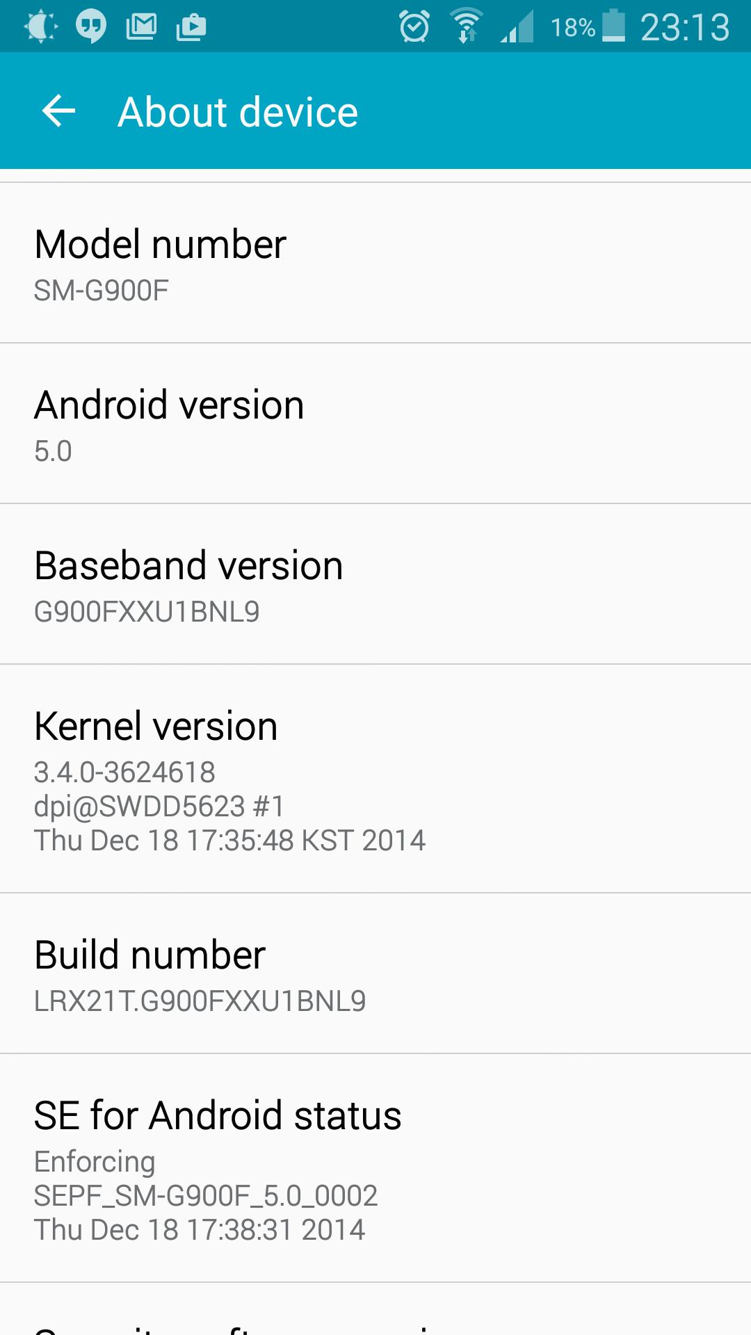 Update Samsung Galaxy S5