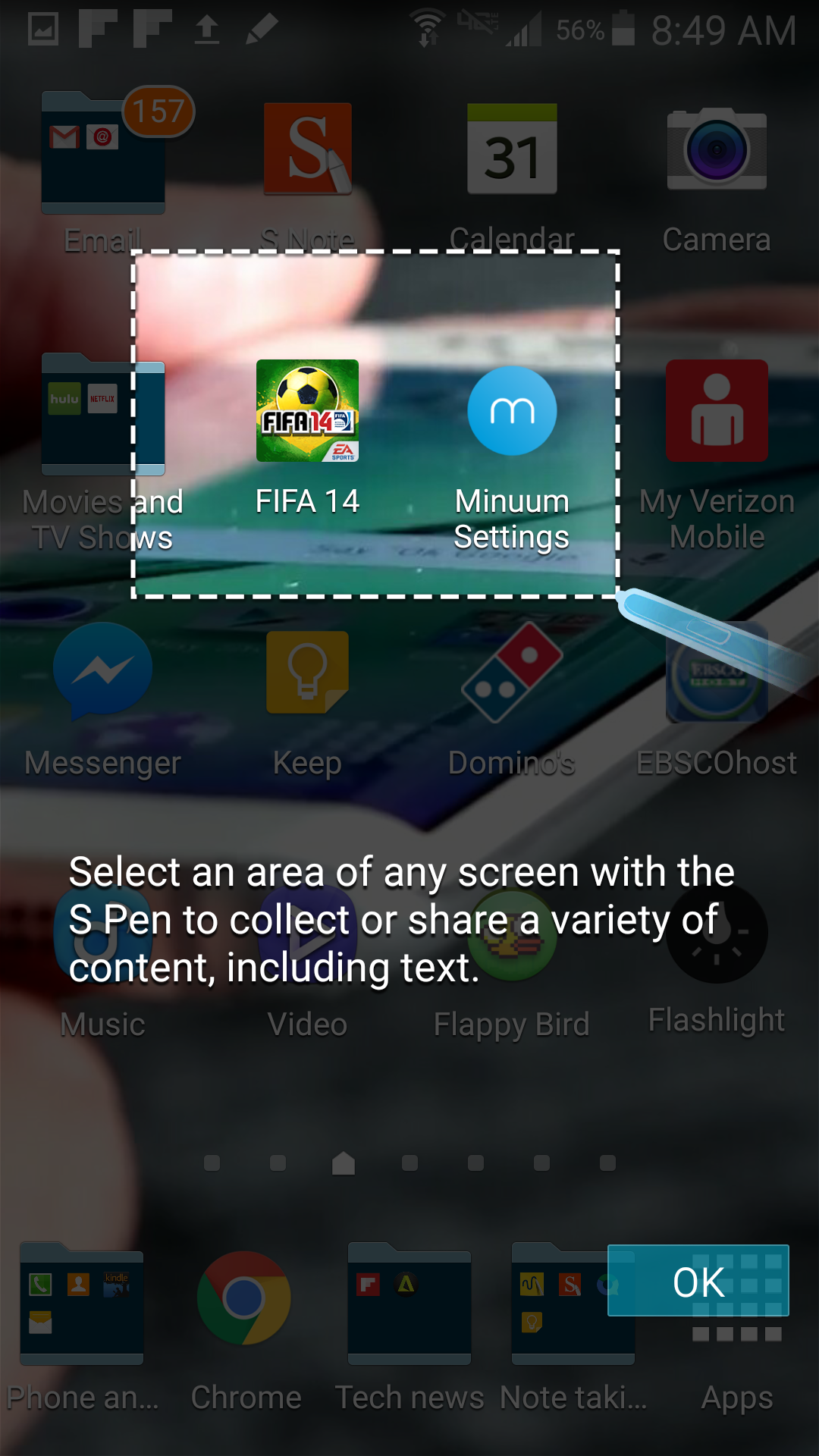 Copy and paste images and text with Samsung's Smart Select