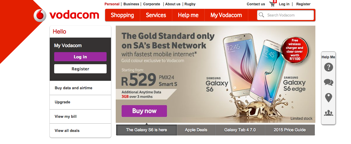 Vodacom Galaxy S6 S6 Edge Pricing Now Available Sammobile Sammobile