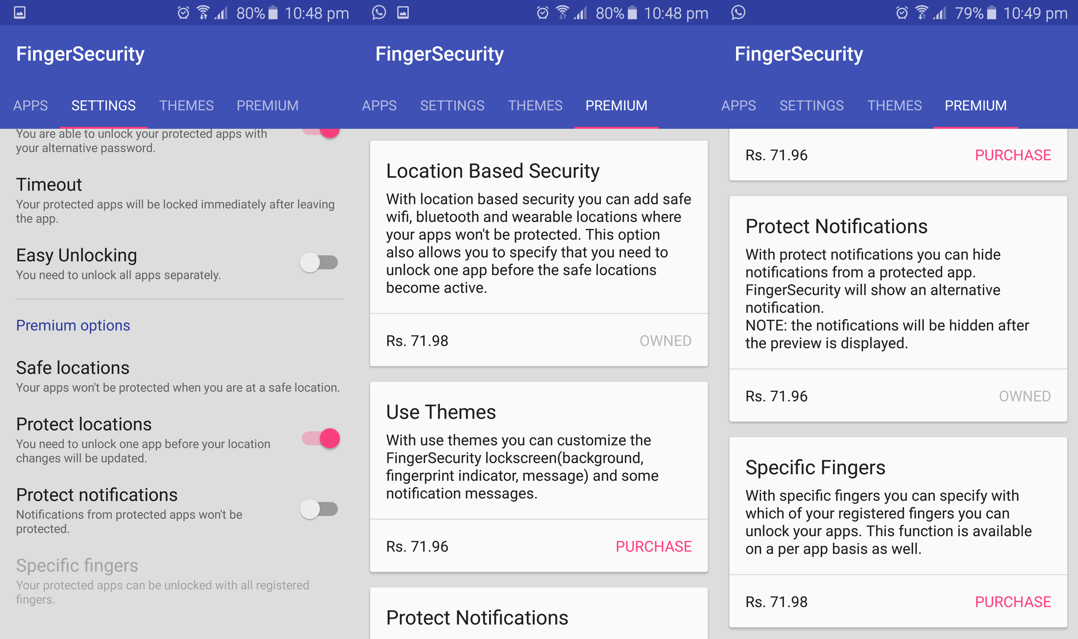 App Focus: FingerSecurity for protecting apps using your