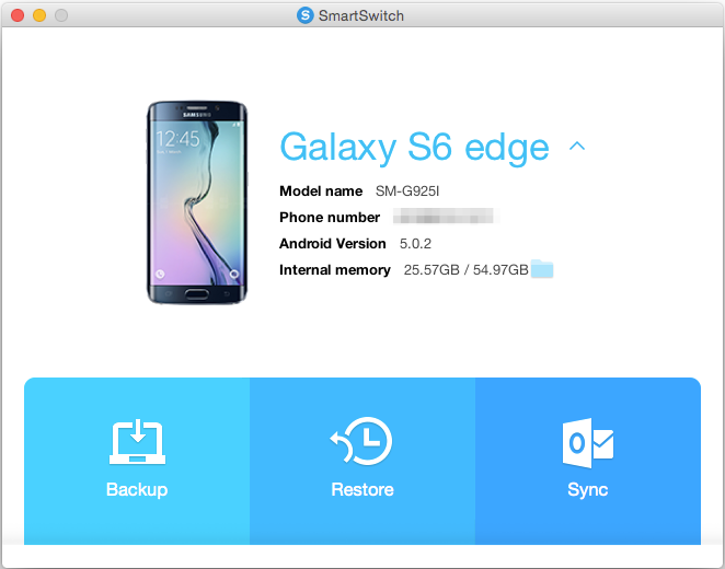 Samsung Smart Switch App For Mac OS X