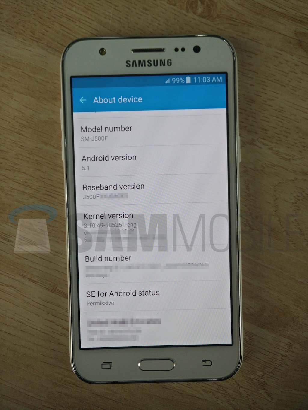 exclusive samsung galaxy j5 live images and
