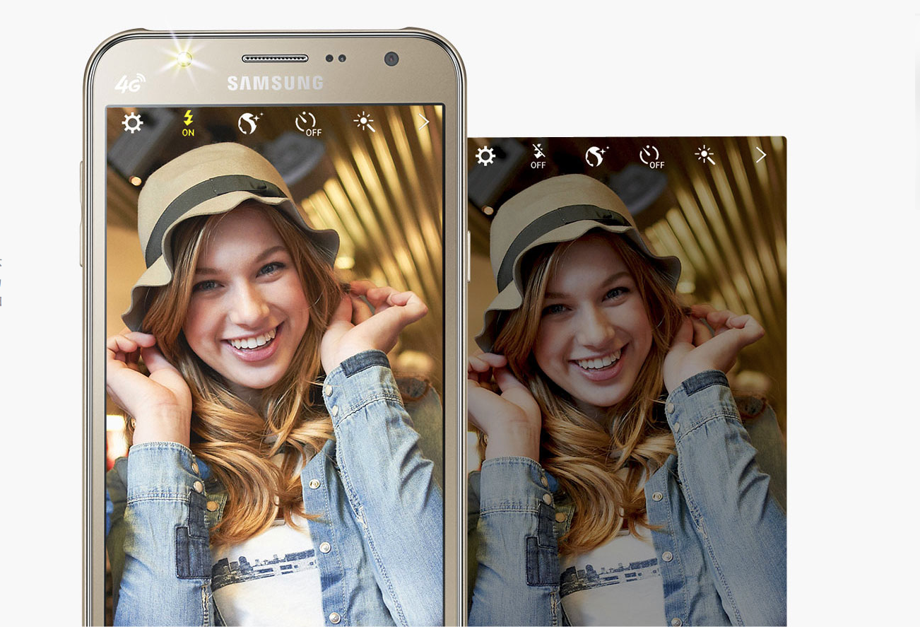 Samsungs First Smartphones With Front Facing LED Flash