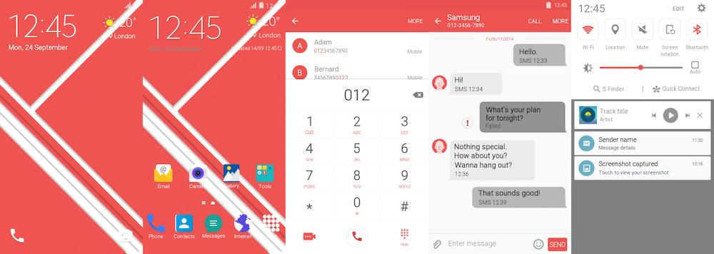 Samsung Galaxy S6 Edge Blush Theme