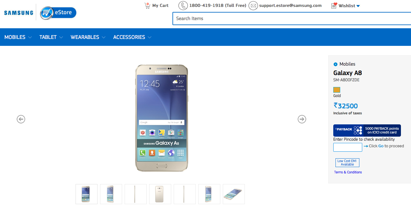 Samsung Galaxy A8 launched in India, priced at INR 32,500