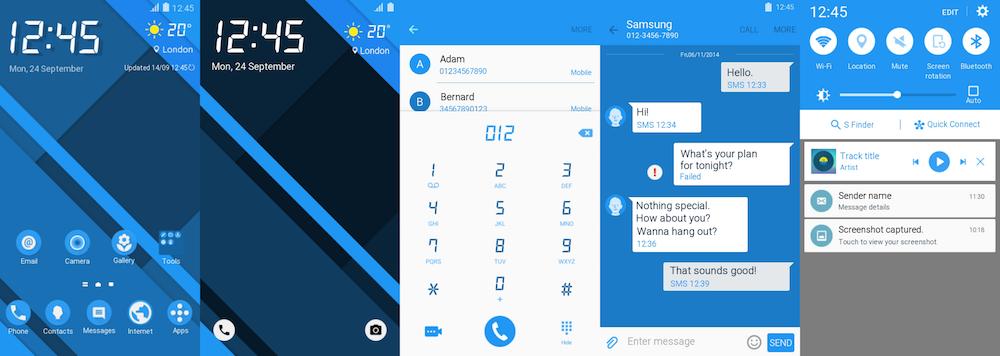 Samsung Galaxy Theme - Azure