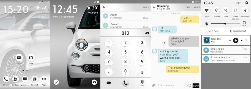 Samsung Galaxy Theme - Fiat 500 White