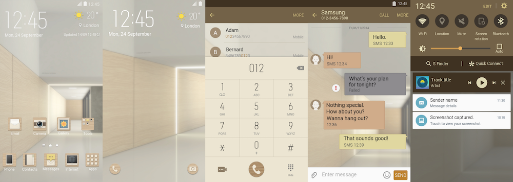 Twelve new themes were released by Samsung in the Theme Store last