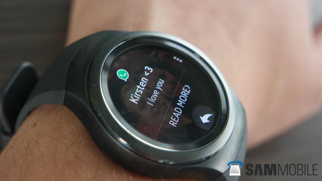 "Notification Whatsapp ""read more"" | Samsung Gear S2"