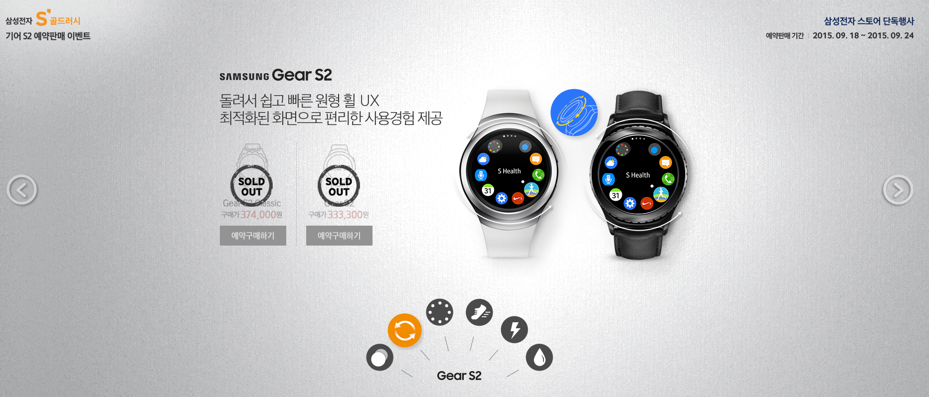 Samsung Gear S2 Gold Rush Book Sale Preorders