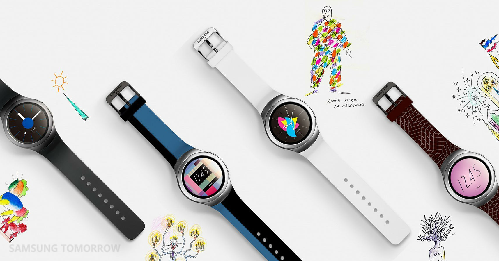 Alessandro Mendini Watchband For Samsung Gear S2