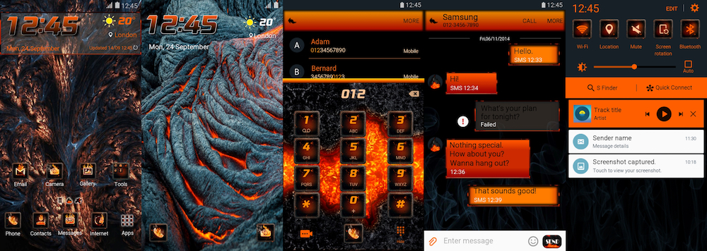 Samsung Galaxy Theme - Lava