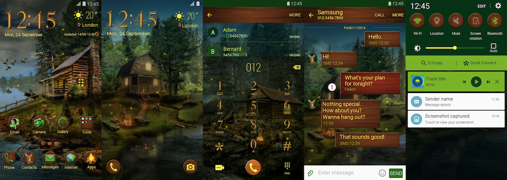 Samsung Galaxy Theme - Log Cabin