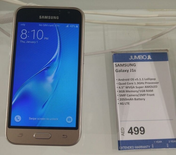 Samsung Galaxy J1 2016 With Super Amoled Display Launched Quietly In