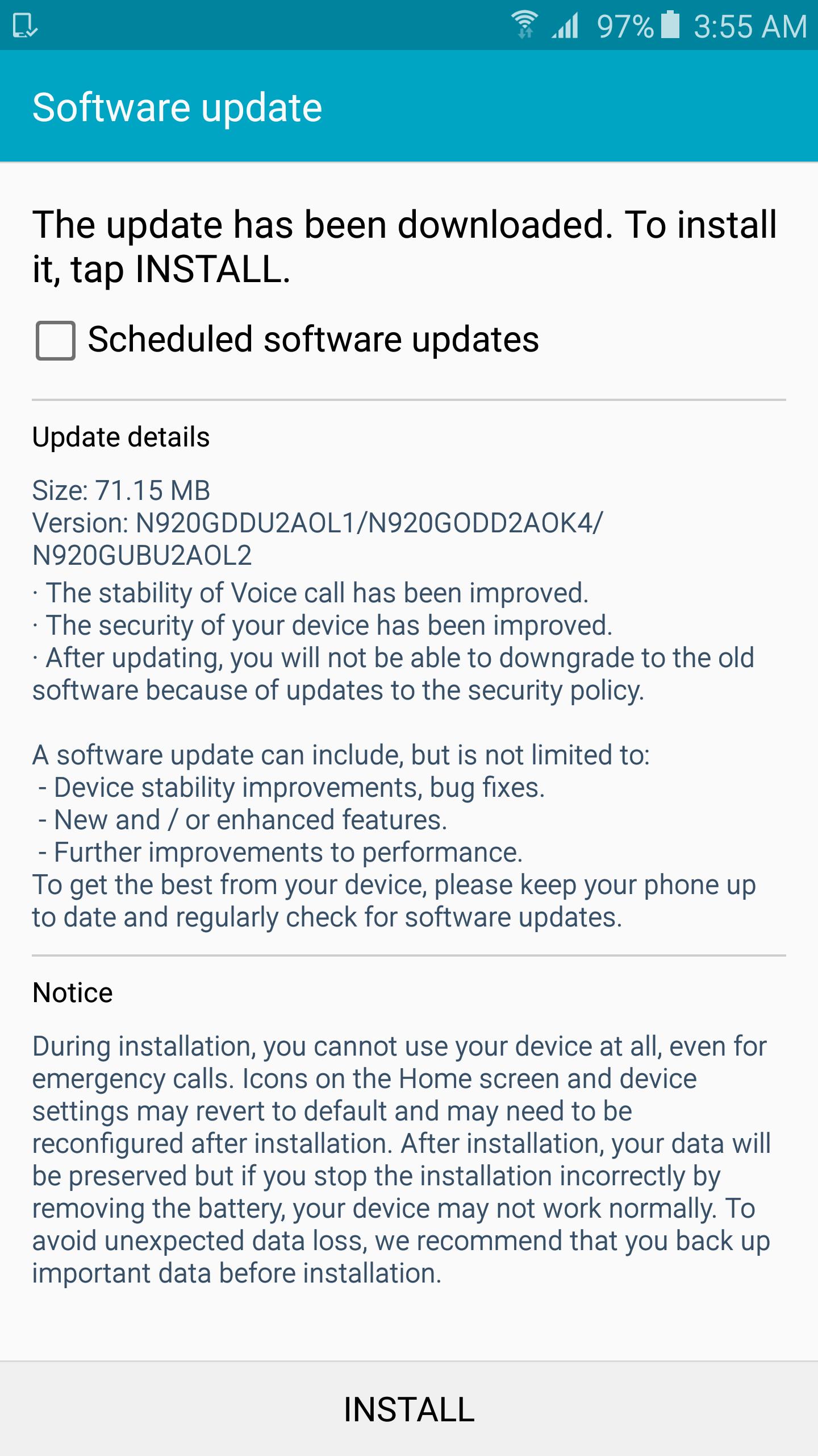 Note 5 Update December
