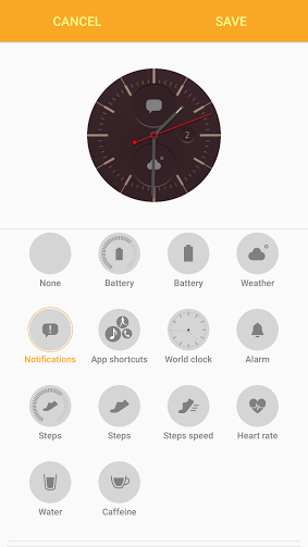 Create a stylized watch face for the Samsung Gear S2
