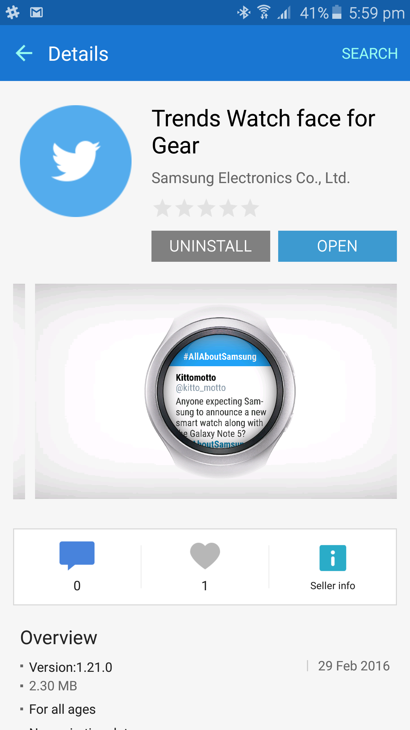 Waiting for the S2, Here's All the News of the New Gear Application Samsung Gear