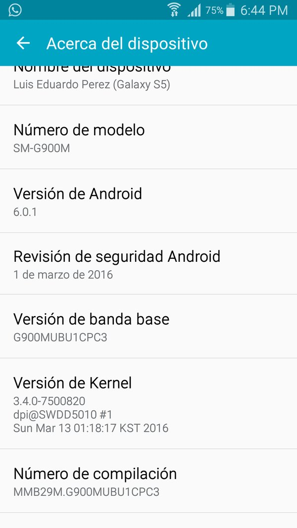 Samsung Galaxy S5 SM-G900M Android 6.0.1 Marshmallow Update