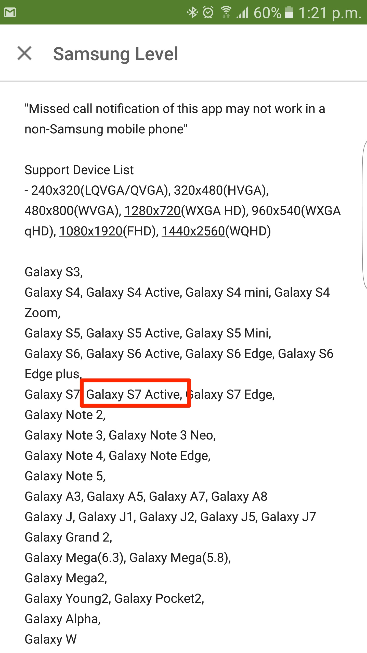Samsung Galaxy S7 Active SM-G891A Confirmation