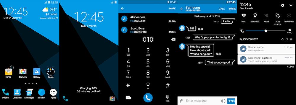 Samsung Galaxy Theme - Black And Blue AMOLED